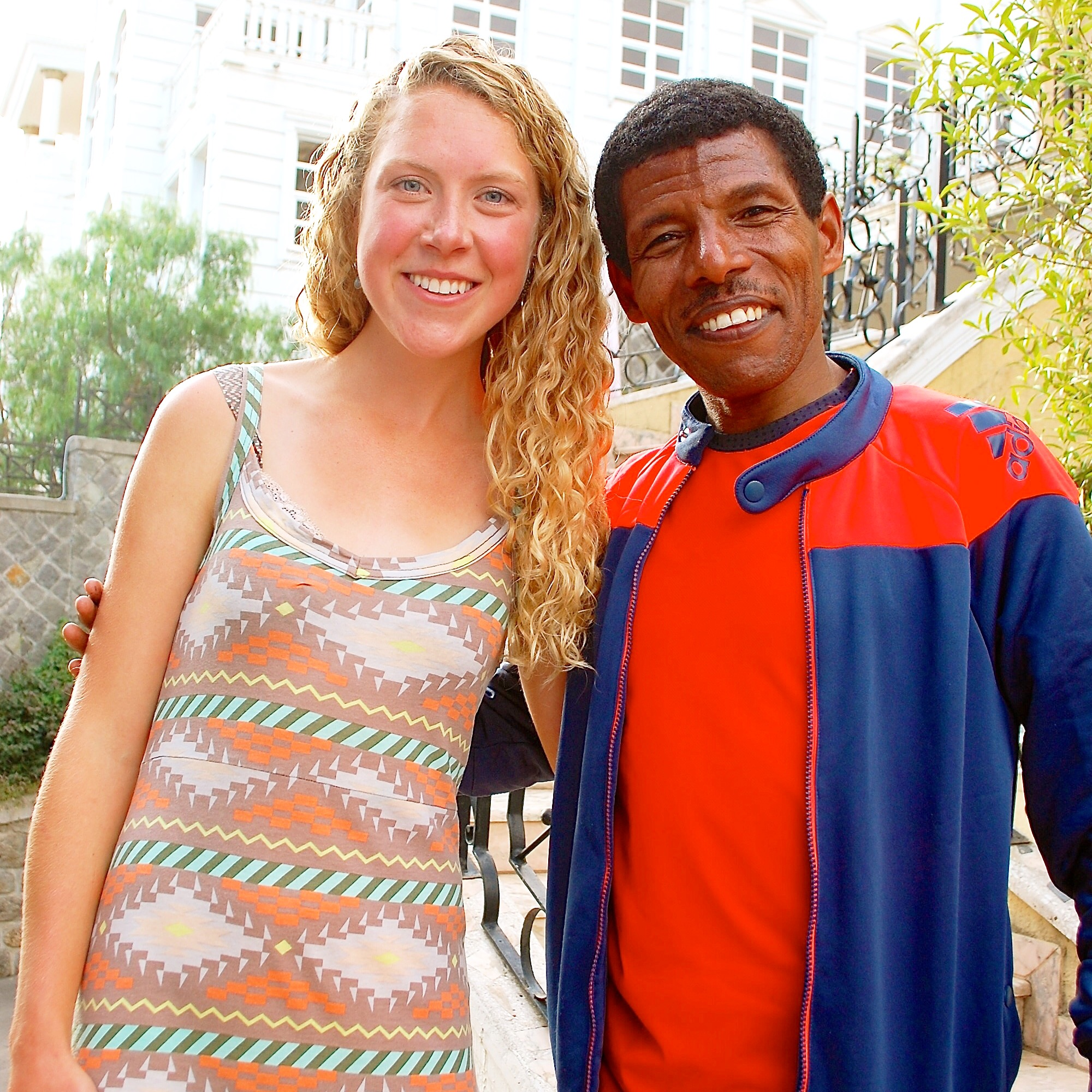 One of the highlights of the day was meeting accomplished runner Haile Gebrselassie